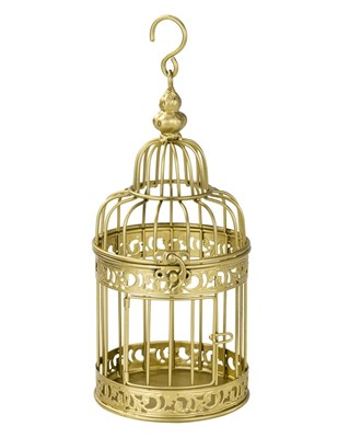 Picture of Be Happy - Gold Birdcage