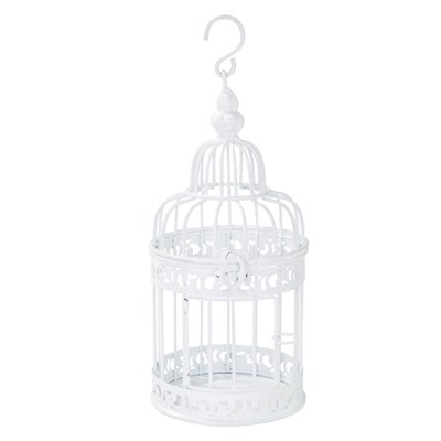 Picture of Be Happy - White Birdcage