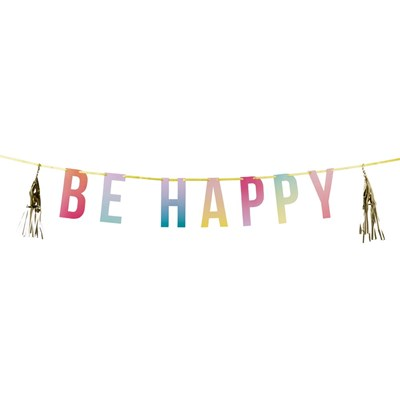 Picture of Be Happy - Party Tassel Garland