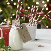 Picture of Christmas Cheer - Paper Straws & Flags