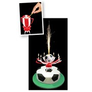 Picture of Cake Central - Single Football Cake Fountain