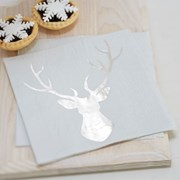 Picture of Christmas Metallics - Foiled Stag Napkin