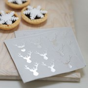 Picture of Christmas Metallics - Mini Foiled Stag Napkin