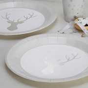 Picture of Christmas Metallics - Foiled Stag Plate