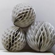 Picture of Christmas Metallics - Honeycomb Balls - Grey