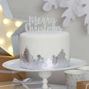 Picture of Christmas Metallics - Cake Topper - Merry Christmas