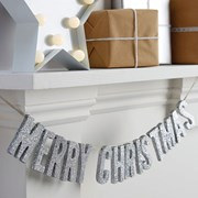 Picture of Christmas Metallics - Merry Christmas Wooden Bunting Glitter