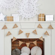 Picture of Christmas Metallics - Merry Christmas Kraft Glitter Bunting