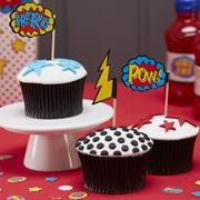 Picture of Comic Superhero - Cupcake Picks