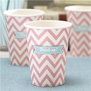 Picture of Chevron Divine - Paper Cups - Pink