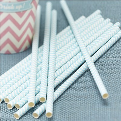 Picture of Chevron Divine - Paper Straws - Mint Green