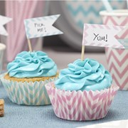 Picture of Chevron Divine - Cupcake Sticks