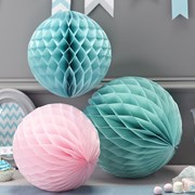 Picture of Chevron Divine - Honeycomb Balls - Pink & Pastel