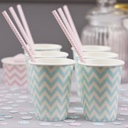 Picture of Chevron Divine - Paper Cups - Blue