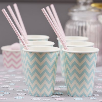 Picture of Chevron Divine - Paper Cups - Blue
