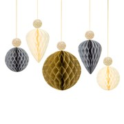 Picture of Decadent Decs - Bauble Honeycombs with Glitter Tops