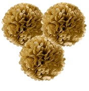 Picture of Decadent Decs - Gold PomPoms