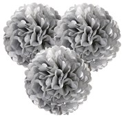 Picture of Decadent Decs - PomPoms Silver
