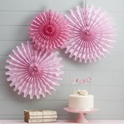 Picture of Floral Fancy - Tissue Fan Decorations