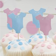 Picture of Little Lady or Mini Mister - Cupcake Toppers