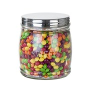 Picture of Mix & Match - Glass Sweet Jar with Silver Lid