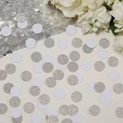 Picture of Metallic Perfection - Confetti - White and Silver