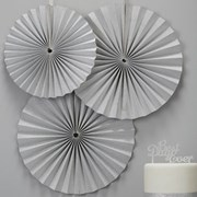 Picture of Metallic Perfection - Circle Fan Decorations - Silver