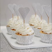Picture of Metallic Perfection - Cupcake Toppers - Silver