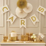 Picture of Metallic Perfection - Cards Bunting - Ivory and Gold