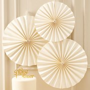 Picture of Metallic Perfection - Circle Fan Decorations - Ivory