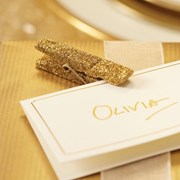 Picture of Metallic Perfection - Glitter Pegs - Gold