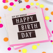 Picture of Neon Birthday - Napkin