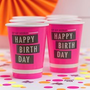 Picture of Neon Birthday - Paper Cups