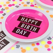 Picture of Neon Birthday - Paper Plates
