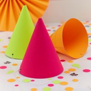Picture of Neon Birthday - Party Hats