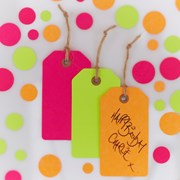 Picture of Neon Birthday - Luggage Tags
