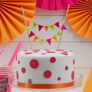 Picture of Neon Birthday - Cake Bunting