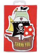 Picture of Pirate Party - Postcard Thank You Cards