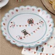 Picture of Patchwork Owls - Paper Plates