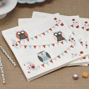 Picture of Patchwork Owls - Napkins