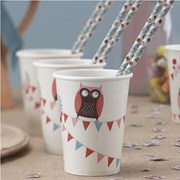 Picture of Patchwork Owls - Paper Cups