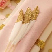 Picture of Pastel Perfection - Gold Dipped Feathers