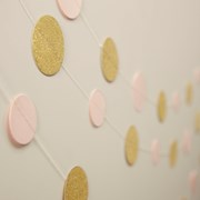 Picture of Pastel Perfection - Circle Garland - Pink & Gold