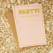 Picture of Pastel Perfection - Invitations - Pink and Gold