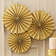 Picture of Pastel Perfection - Circle Fan Decorations - Gold