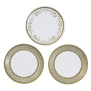 Picture of Party Porcelain - Gold Canape Plates