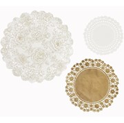 Picture of Party Porcelain - Gold Doilies