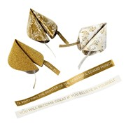 Picture of Party Porcelain - Gold Paper Fortune Favours