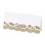 Picture of Party Porcelain - Gold Placecard