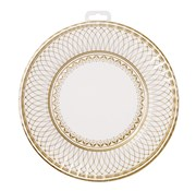 Picture of Party Porcelain - Gold Large Plate